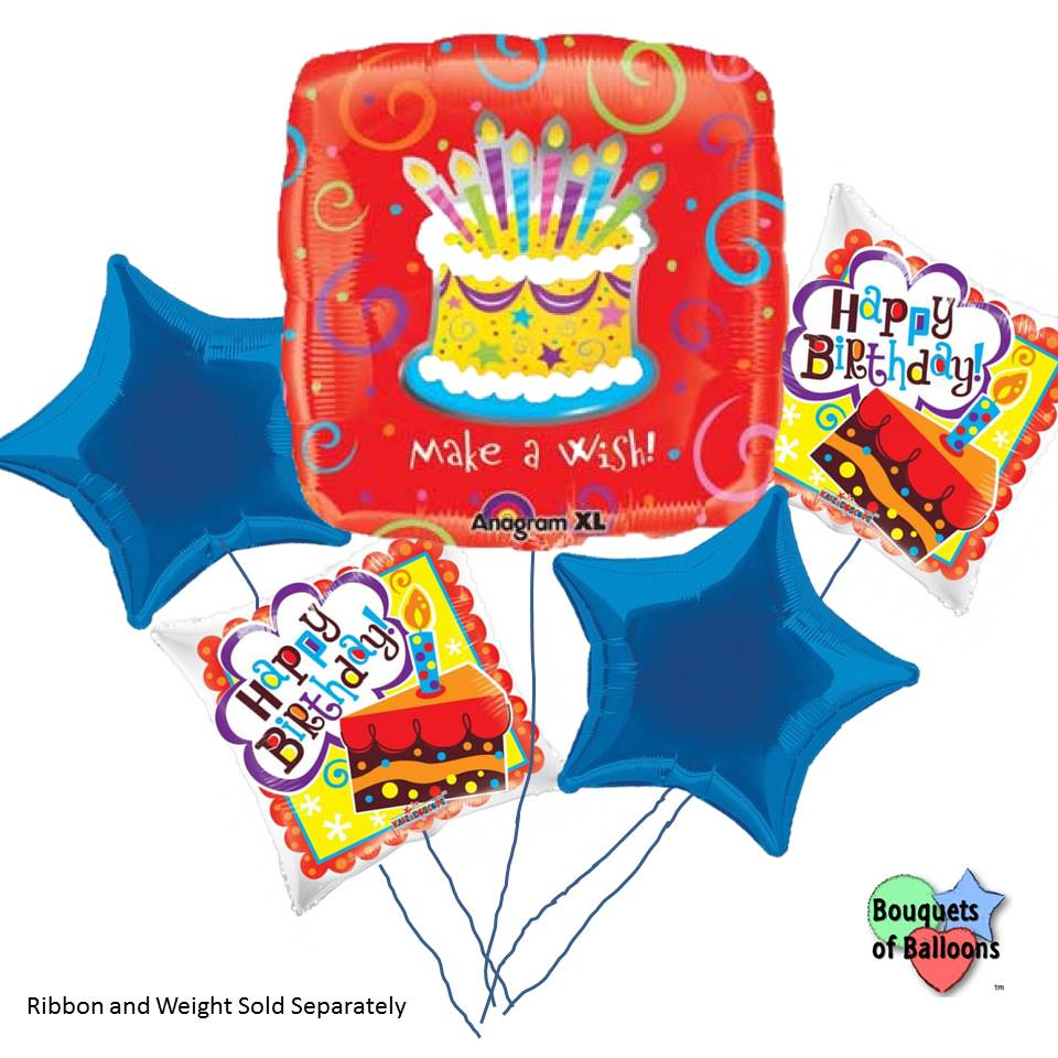 Make a wish birthday bouquet of balloons bouquets of balloons birthday bouquet of balloons izmirmasajfo