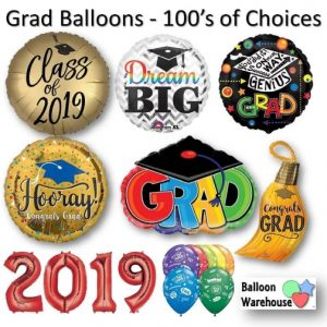 Over 200 Different Grad Balloons
